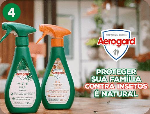 Produto com ingrediente natural¹, ideal para sua casa e proteção da sua família.