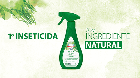 1º inseticida com ingrediente natural