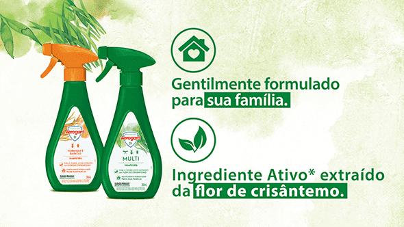 Gentilmente formulado com ingrediente extraído da flor de crisântemo