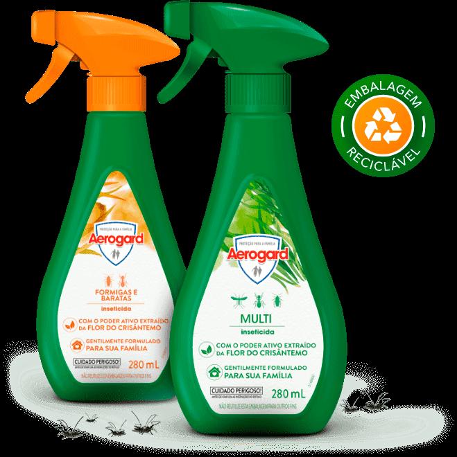 Finalidade e benefícios dos inseticidas Aerogard Formigas e Baratas e Multi